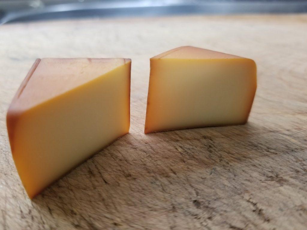 ピートで燻製したチーズ